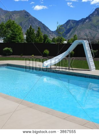 Backyard Pool With Slide