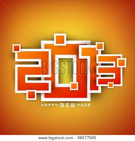 2013-Happy New Year-Hintergrund. EPS 10