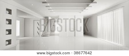 innere moderne weiße Wohnung