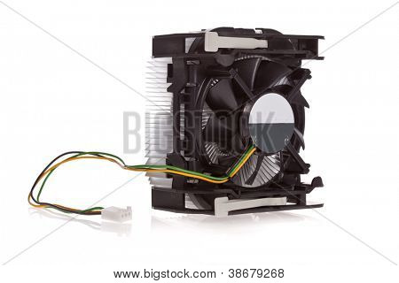 CPU Cooler isolated on a white background
