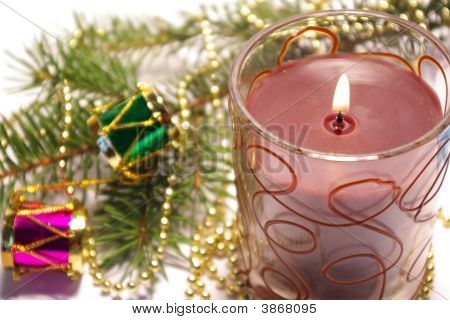 Christmas Candle And Decoration
