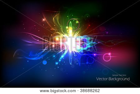 illustration of colorful abstract background with effect