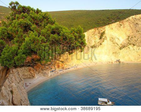 Porto Katsiki beach at Lefkada island, Greece