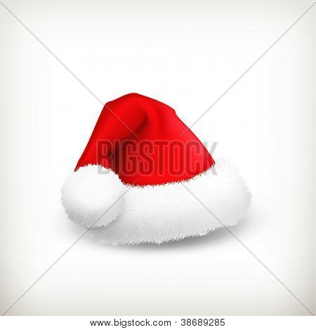 Santa Claus hat, vector