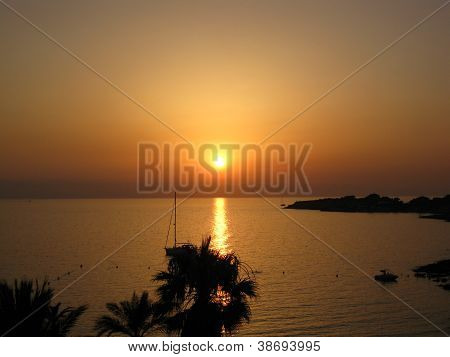 sunset at Ibiza, Spain