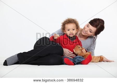 Woman and her child