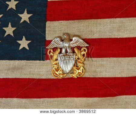 Flag Navy Pin
