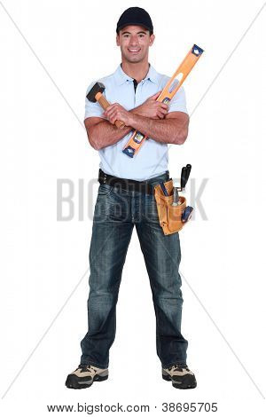 Craftsman with spirit-level