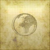 Old World Map Grid
