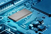 stock photo of microprocessor  - close - JPG