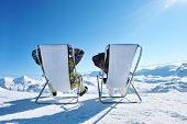 stock photo of apr  - Couple at mountains in winter - JPG