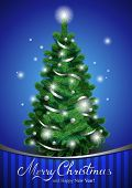 foto of blue spruce  - Vector Christmas tree - JPG