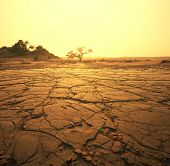 picture of arid  - dry landscape - JPG