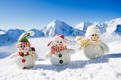 foto of snowman  - Winter - JPG