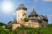 Royal castle Karlstejn in Czech Republic