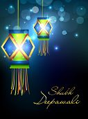picture of diwali lamp  - Hanging lamp for Diwali festival in India - JPG