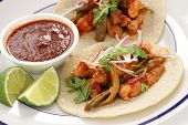 image of nopal  - pork and cactus tacos - JPG