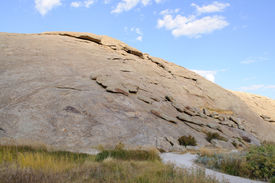 foto of independence rock state historic site  - Independence Rock State Historic Site in Wyoming - JPG