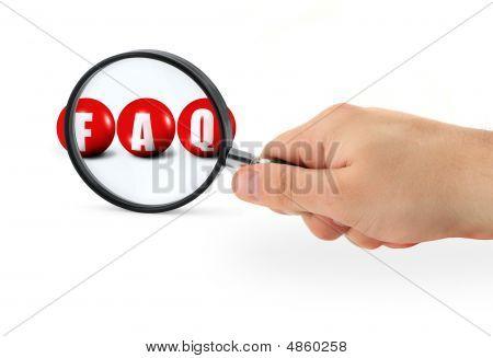 Faq Sign Enlarged
