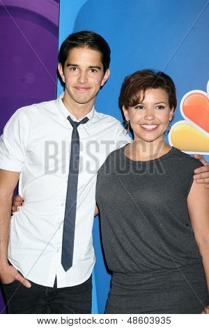 LOS ANGELES - JUL 27:  Joseph Hero, Justina Machado at the NBC TCA Summer Press Tour 2013 at the Beverly Hilton Hotel on July 27, 2013 in Beverly Hills, CA