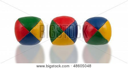 Three Juggle Balls Isolated