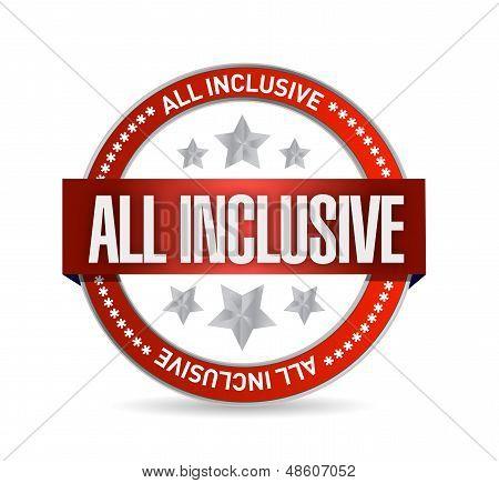 All Inclusive Seal Illustration Design