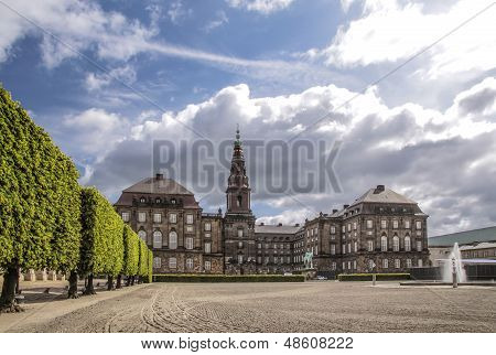 Christiansborg Castle In Copenhagen