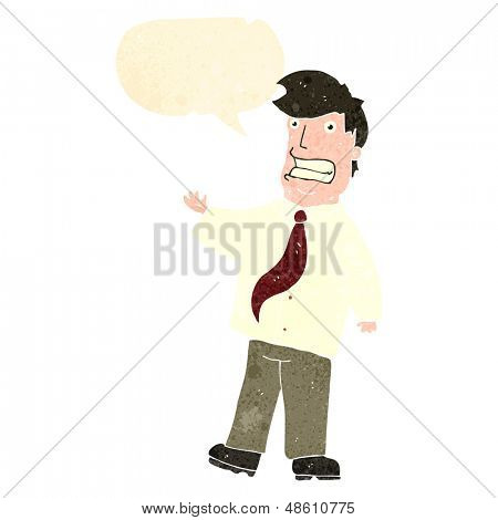 retro cartoon grinning salesman
