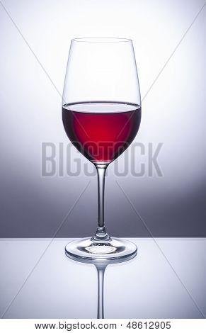 Glass of Red Wine Back Lit