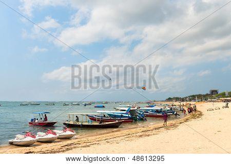 Tourist Watersport Beach On Bali
