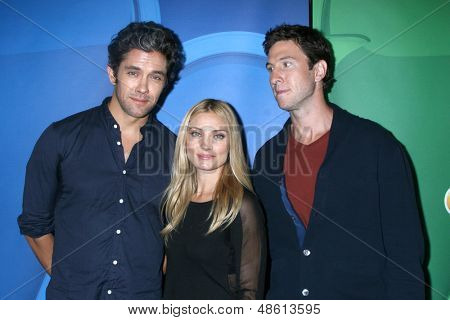 LOS ANGELES - JUL 27:  Neal Bledsoe, Spencer Grammer, Pablo Schreiber at the NBC TCA Summer Press Tour 2013 at the Beverly Hilton Hotel on July 27, 2013 in Beverly Hills, CA