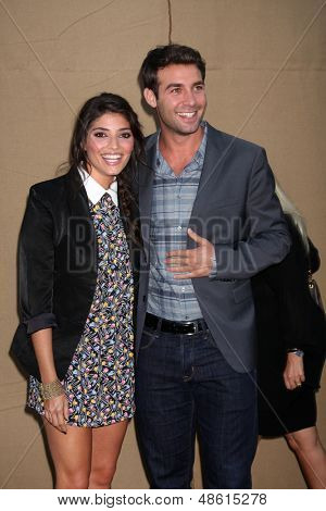 LOS ANGELES - JUL 29:  Amanda Setton, James Wolk arrives at the 2013 CBS TCA Summer Party at the private location on July 29, 2013 in Beverly Hills, CA