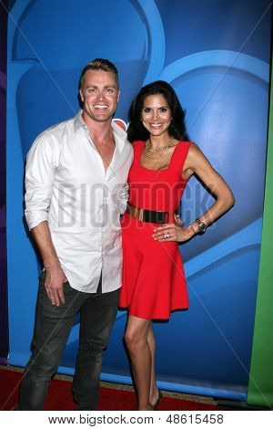 LOS ANGELES - JUL 27:  Jonathan Buckley, Joyce Giraud at the NBC TCA Summer Press Tour 2013 at the Beverly Hilton Hotel on July 27, 2013 in Beverly Hills, CA