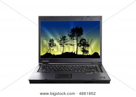 Laptop Isolated Over White Background