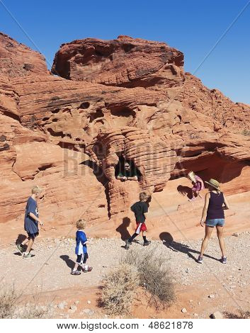 A Family At The Valley Of Fire State Park