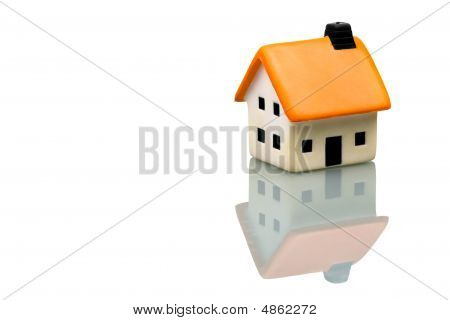 An Isolated Small House On White Background