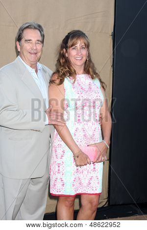 LOS ANGELES - JUL 29:  Beau Bridges, Wendy Bridges arrives at the 2013 CBS TCA Summer Party at the private location on July 29, 2013 in Beverly Hills, CA