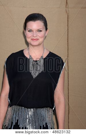 LOS ANGELES - JUL 29:  Heather Tom arrives at the 2013 CBS TCA Summer Party at the private location on July 29, 2013 in Beverly Hills, CA