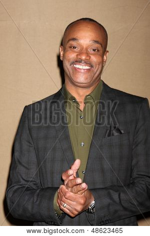 LOS ANGELES - JUL 29:  Rocky Carroll arrives at the 2013 CBS TCA Summer Party at the private location on July 29, 2013 in Beverly Hills, CA