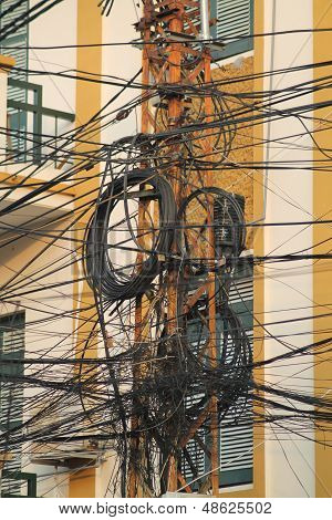 Electricity Cables Vietnam Style
