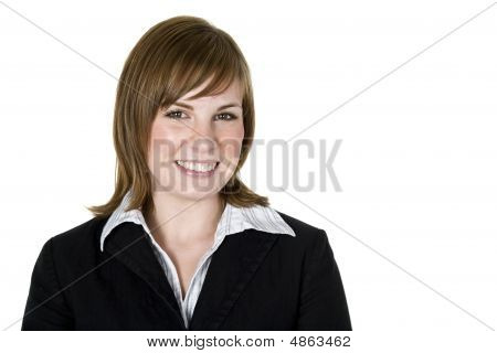 Professional Business Woman Isolated On White