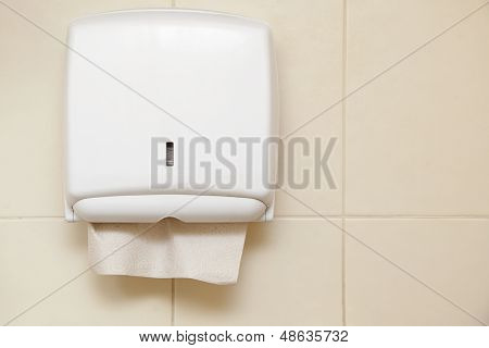Paper Towel Dispenser In The Bathroom
