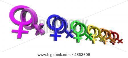 Woman-woman Symbols Rainbow