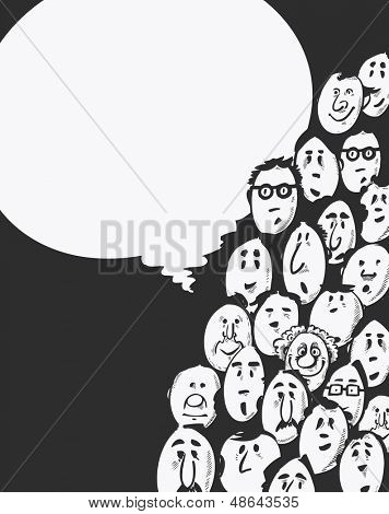 Meeting -cartoon characters - dark background