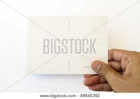 Showing A Postcard