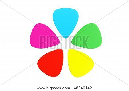 Multicolor Plastic Guitar Plectrums