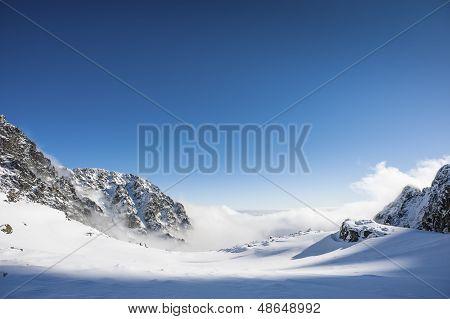 Winter Mountains Horizon