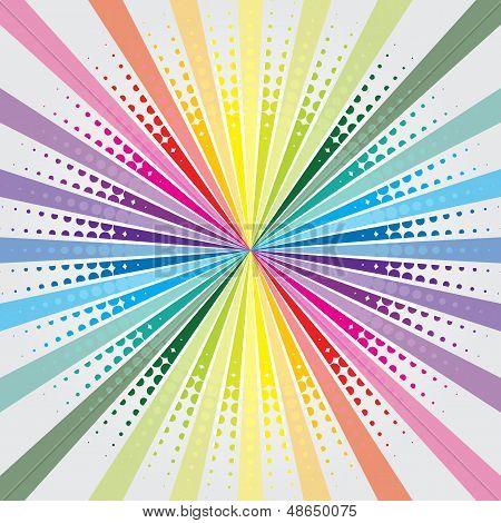 Arco iris estalló con trama de semitonos