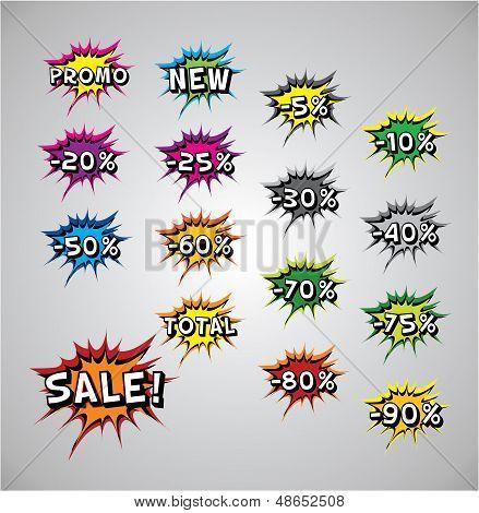 Comic Book Explosion Buble - Sale