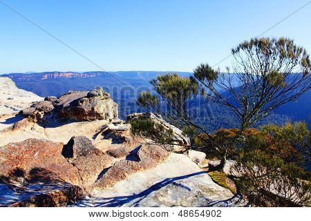 View From Flat Rock Kings Tableland Wentworth Falls Blue Mountains National Park